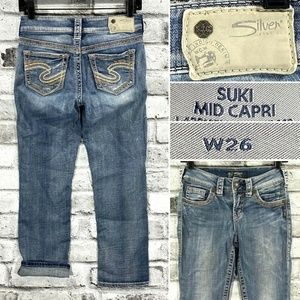 Silver Jeans -SUKI Mid Capri Women's W26 Cropped